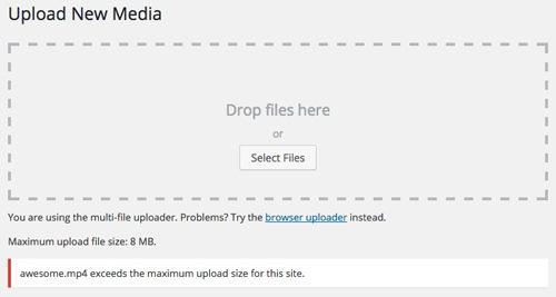 WordPress Upload Limiti