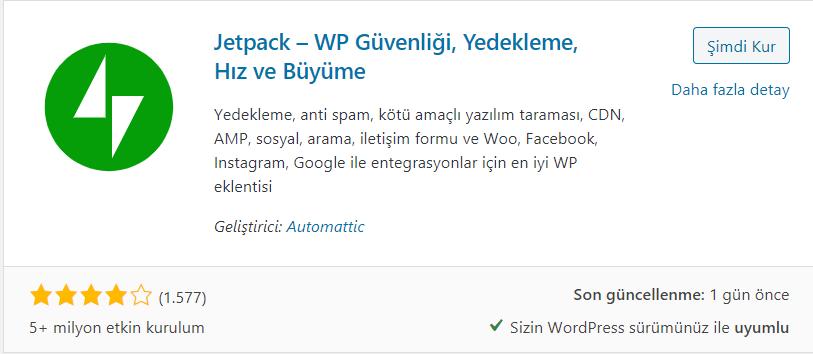 WordPress JetPack Eklentisi