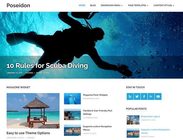 Poseidon - En İyi Ücretsiz WordPress Temaları